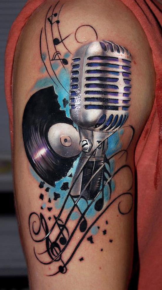 Retro Music Tattoo