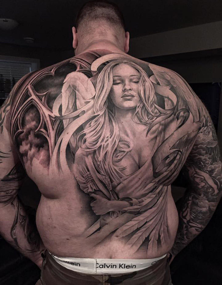 Beautiful Angel Back Piece