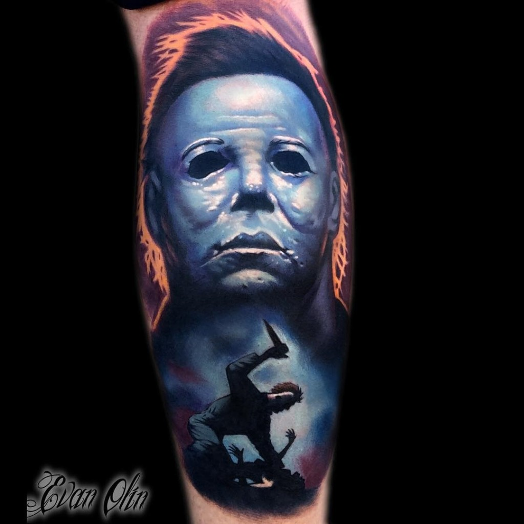 Michael myers halloween best tattoo design ideas for Michael myers tattoo