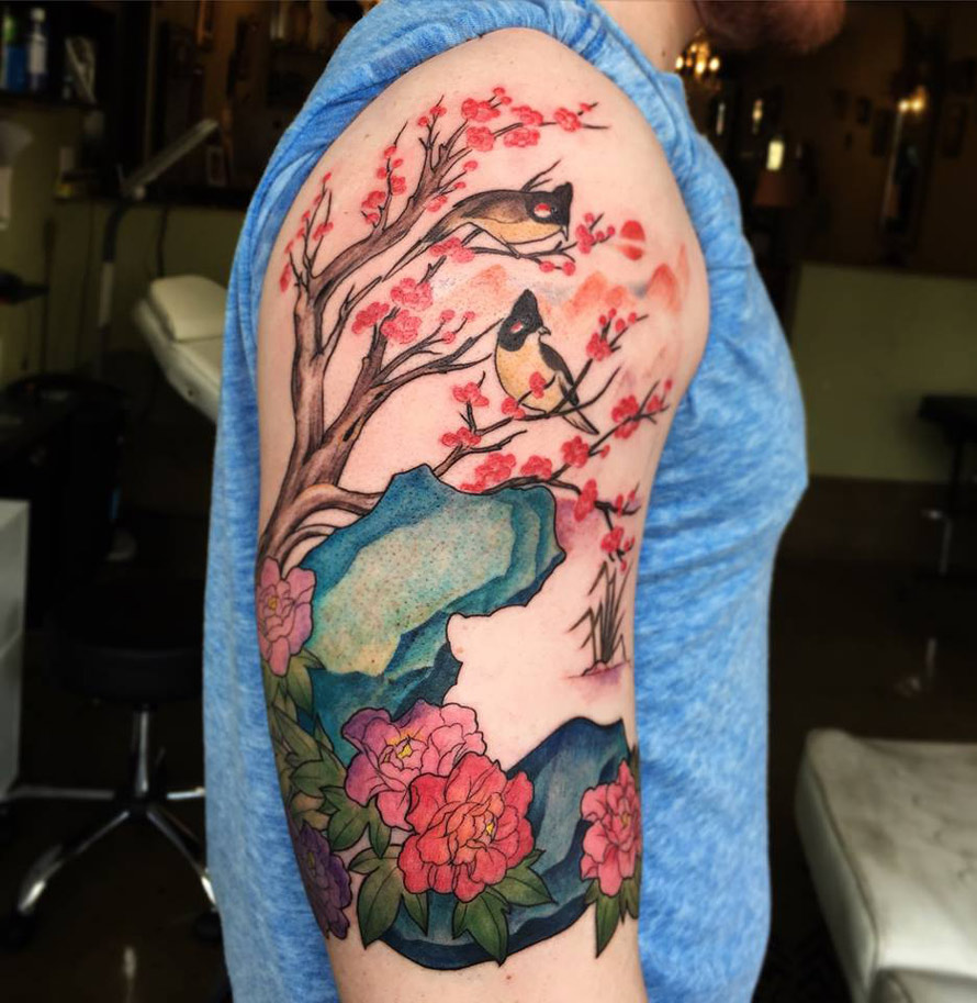 Nature Scene Half Sleeve