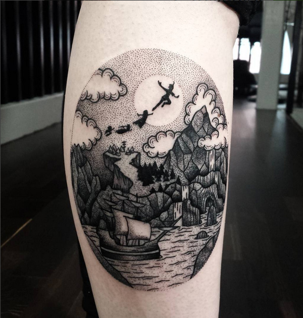 Peter Pan Dotwork