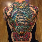 Full Back Retro Sailors Tattoo