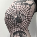 Spider Web Knee Tattoo