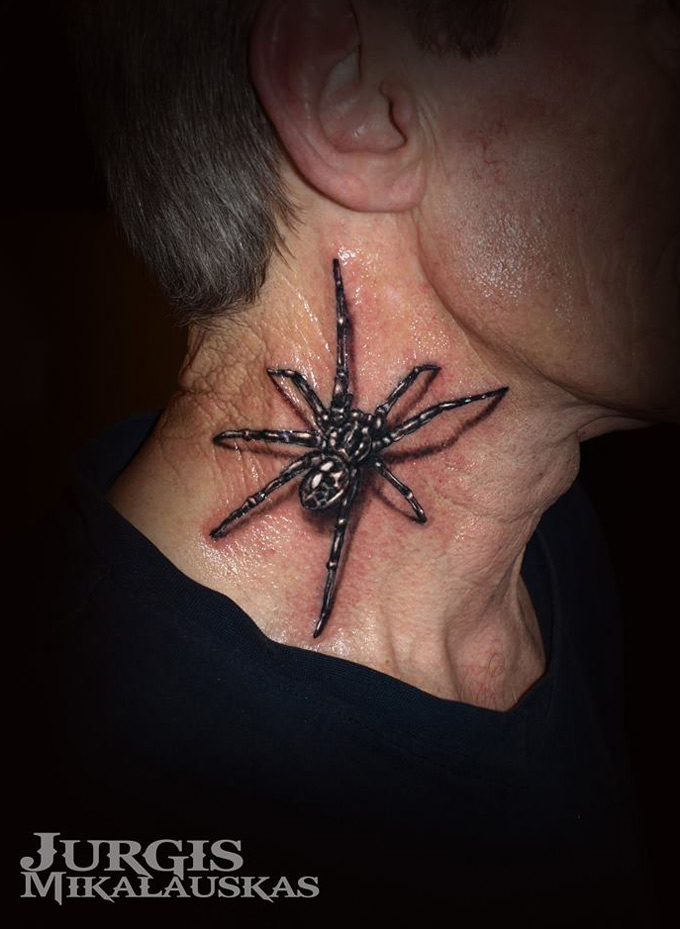 3d black widow spider best tattoo design ideas