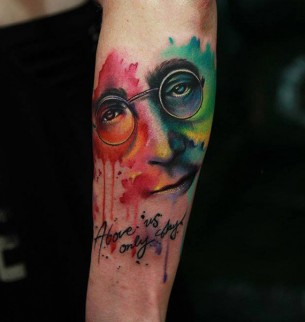 John Lennon Imagine Tattoo