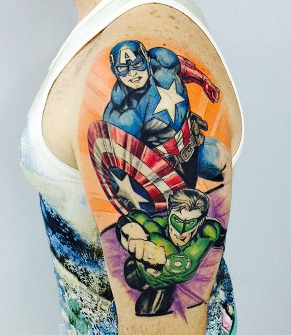 captain america best tattoo design ideas. Black Bedroom Furniture Sets. Home Design Ideas