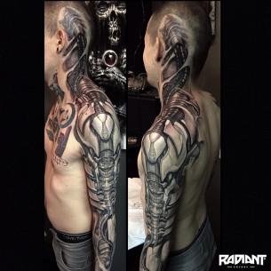 Stunning Cyborg Tattoo