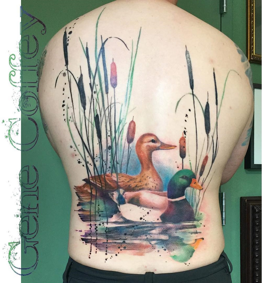 Ducks Back Tattoo