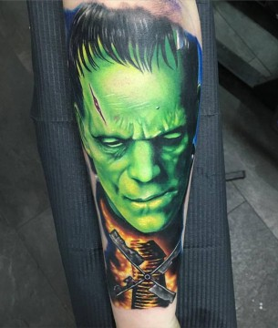 Frankenstein Forearm Tattoo