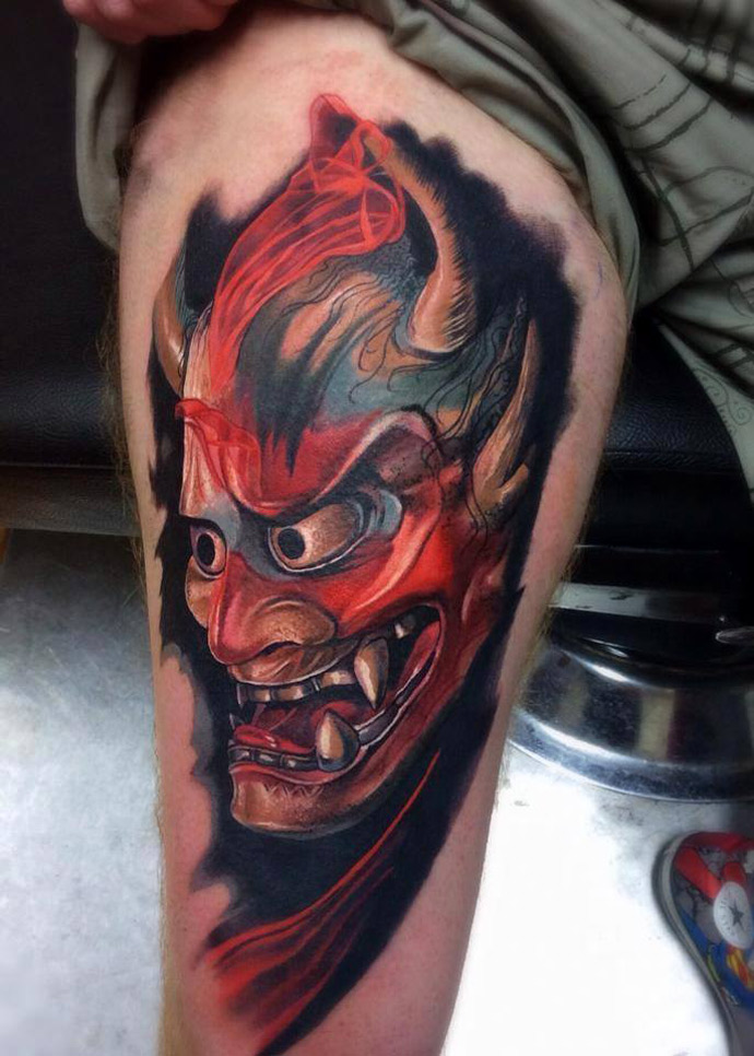 hannya mask tattoo best tattoo design ideas
