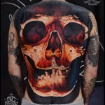 Skull Full Back Tattoo