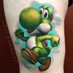 Colorful Yoshi Tattoo