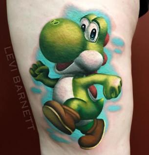 Colorful Yoshi Tattoo