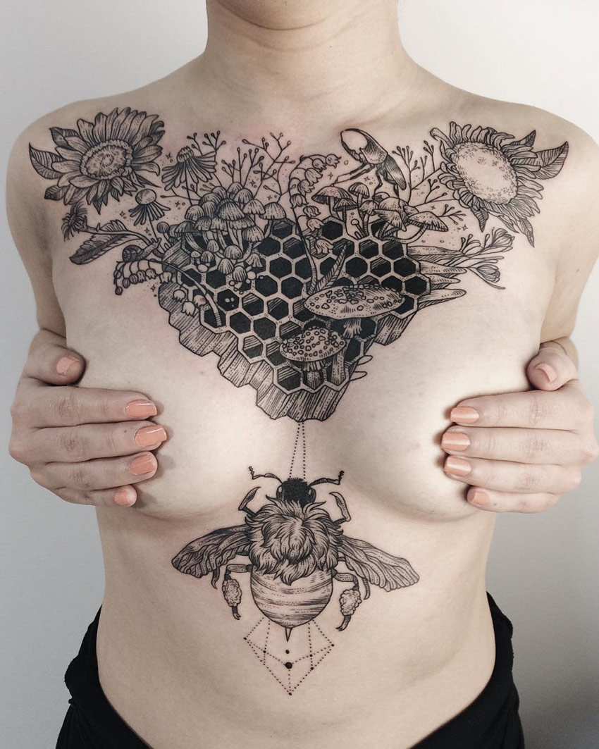 Honeycomb tattoo