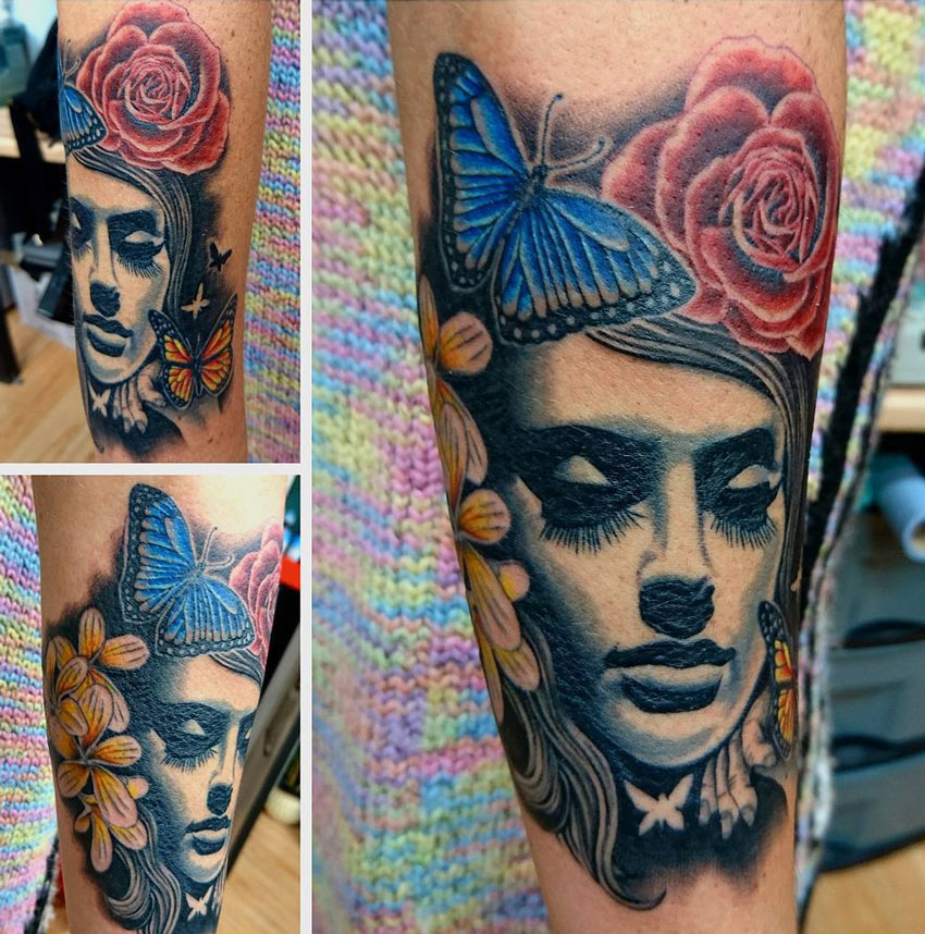 Pretty Portrait Tattoo