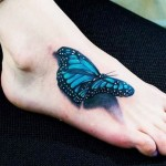 3D Butterfly on Foot