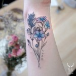 Pink & Blue- Flowers