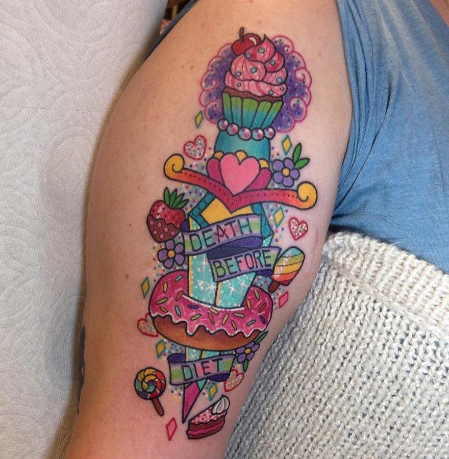 Dagger tattoo - Death Before Diet