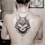 Fox Back Tattoo