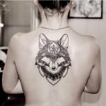 Fox Back Tattoo