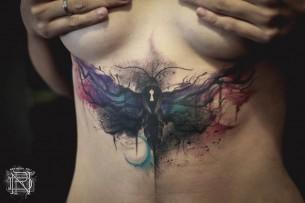 Moth Abdomen Tattoo