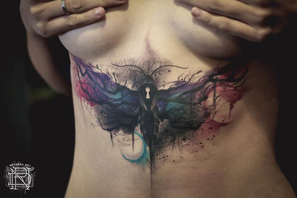 Moth Keyhole Tattoo