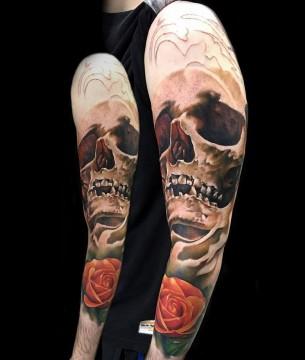Skull & Rose Sleeve