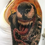 Venom arm tattoo