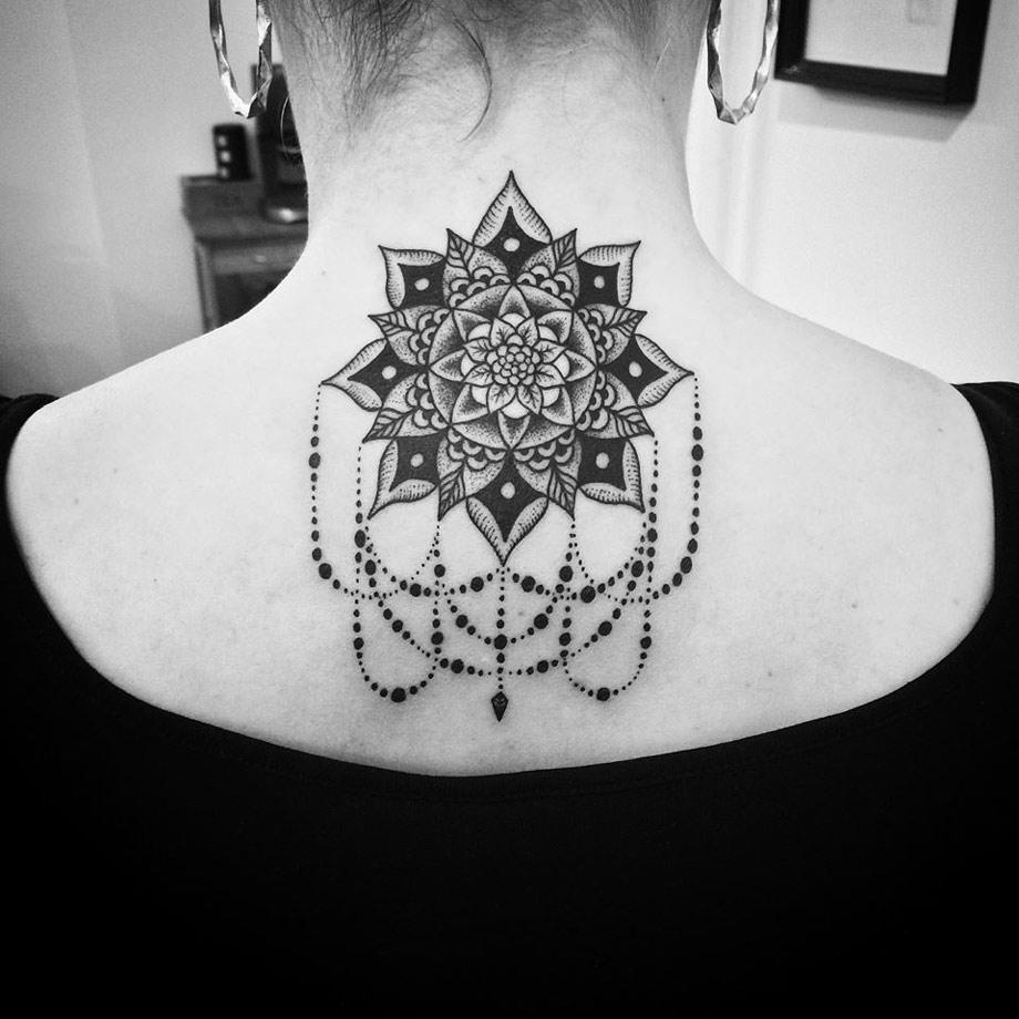 Pretty Neck Mandala Best Tattoo Design Ideas