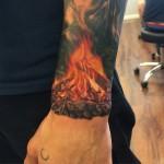 Campfire Wrist Tattoo