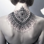 Dotwork Mandala on neck