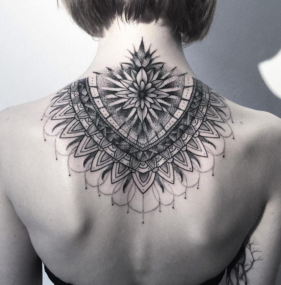 Stunning Neck Mandala Best Tattoo Design Ideas