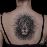 Fluffy lion tattoo