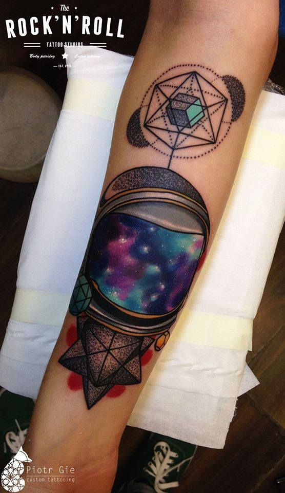 Abstract galaxy forearm piece best tattoo design ideas for Galaxy tattoo sleeve