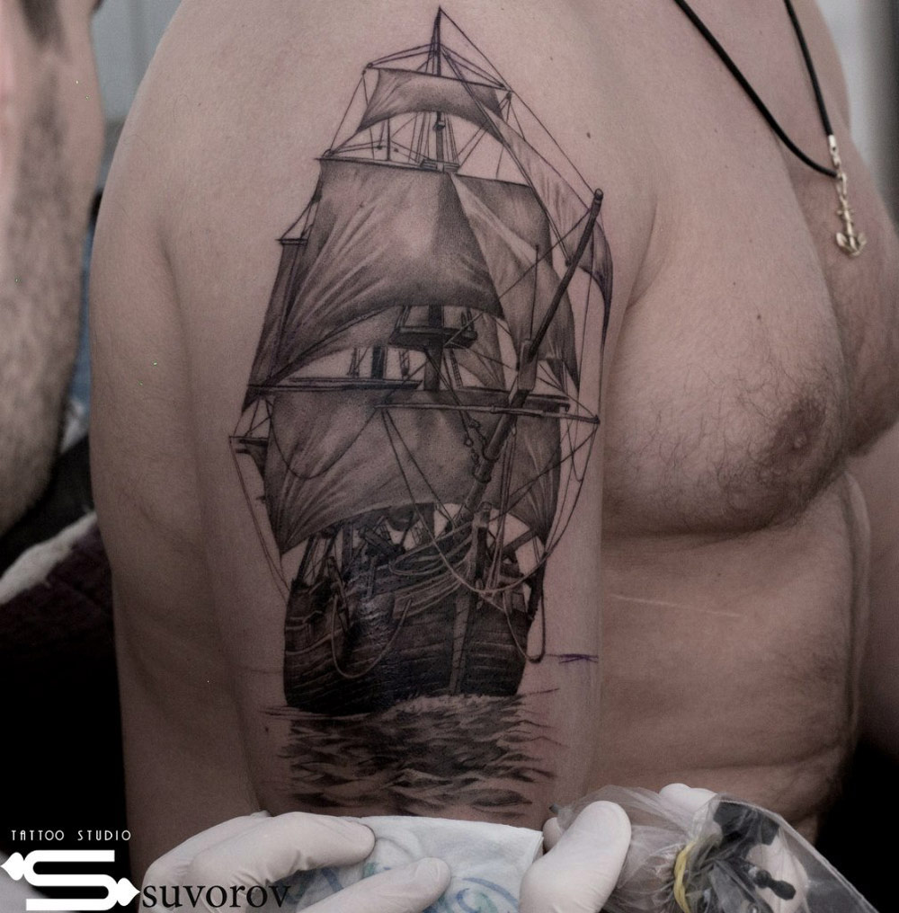Graceful Sailing Ship