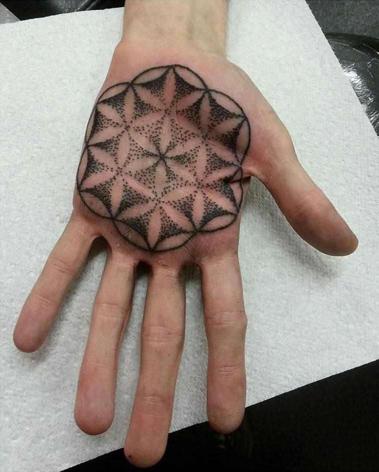 Mandala on Palm