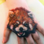 Cute Red Panda Tattoo