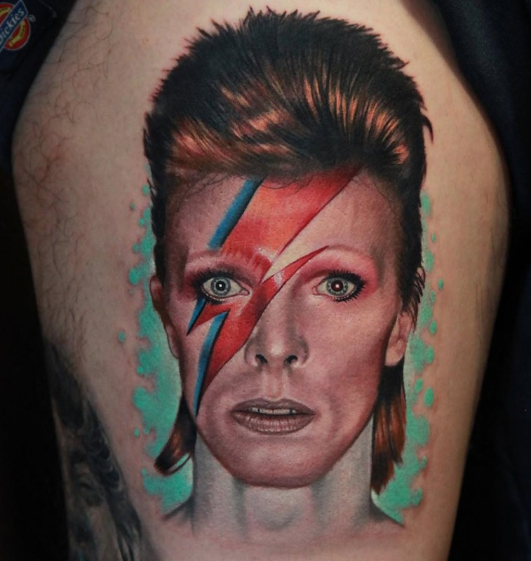 David Bowie's 'character' Aladdin Sane from his sixth album ...
