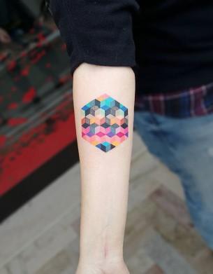 Colorful Geometric Cubes