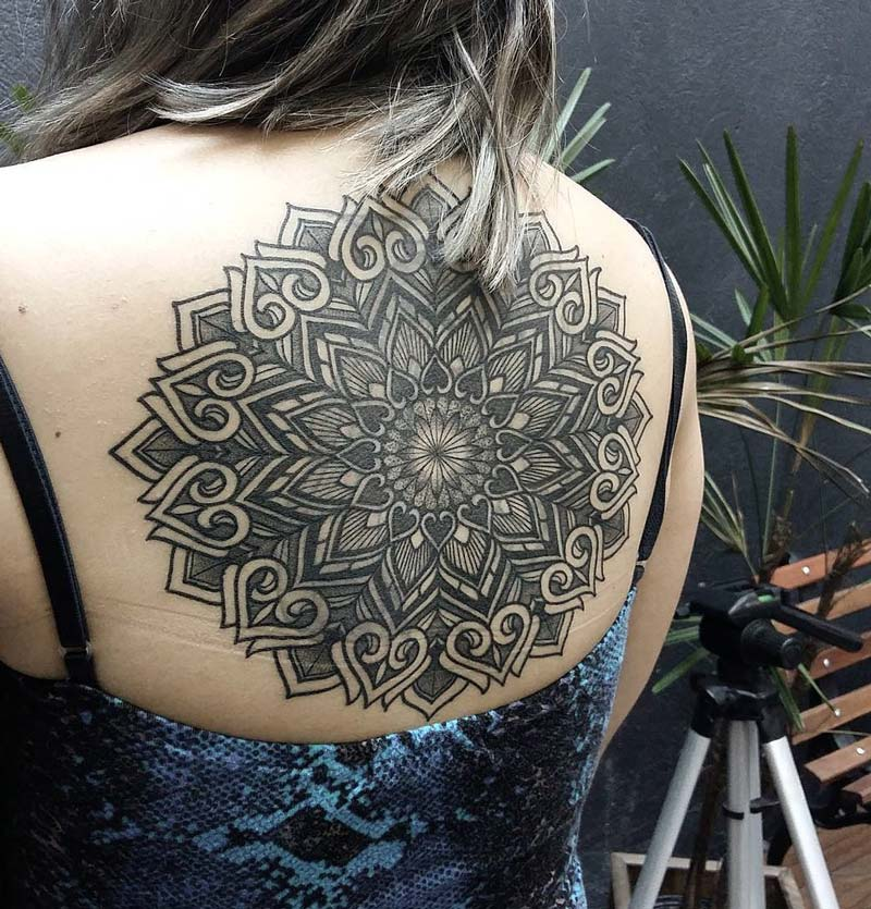 Large Mandala Back Tattoo