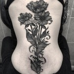Poppies Back Tattoo
