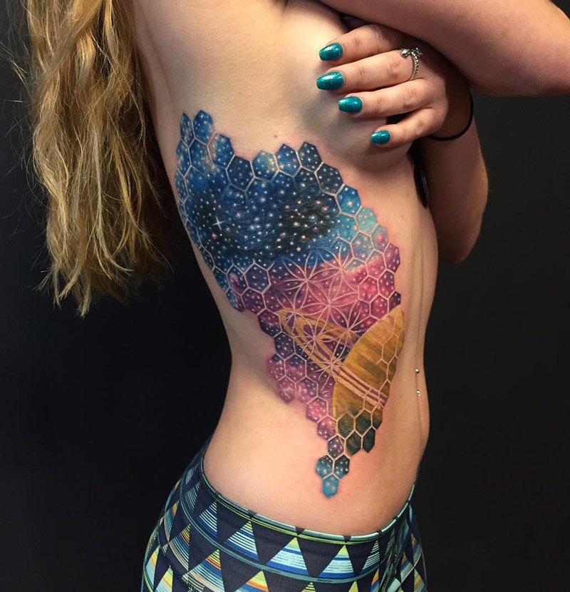 Saturn Space Tattoo