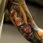 Veiled Skull & Rose Sleeve