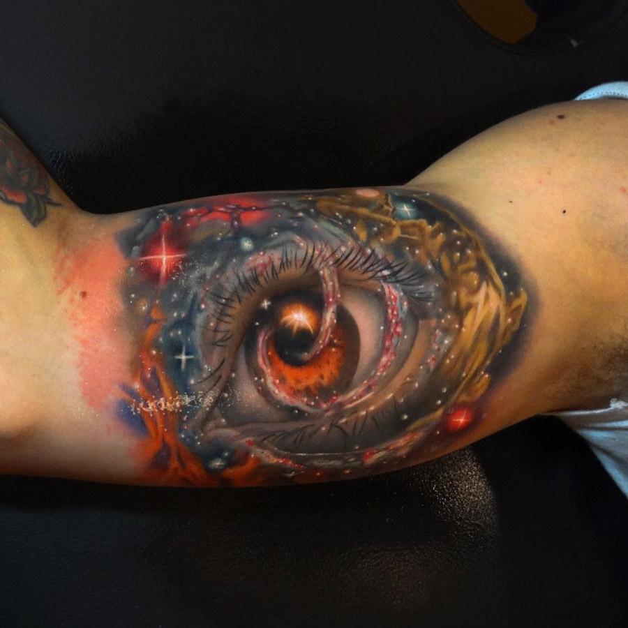 Galaxy Eye Tattoo