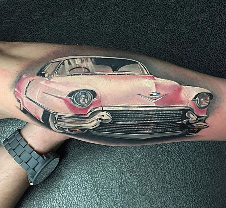 Pink Cadillac Best Tattoo Design Ideas