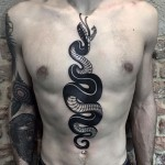 Front Snake Tattoo
