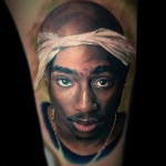 Tupac Portrait tattoo