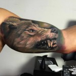Wolf Arm Tattoo