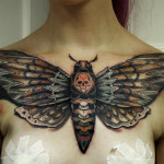 Death's-Head Hawkmoth Chest Tattoo