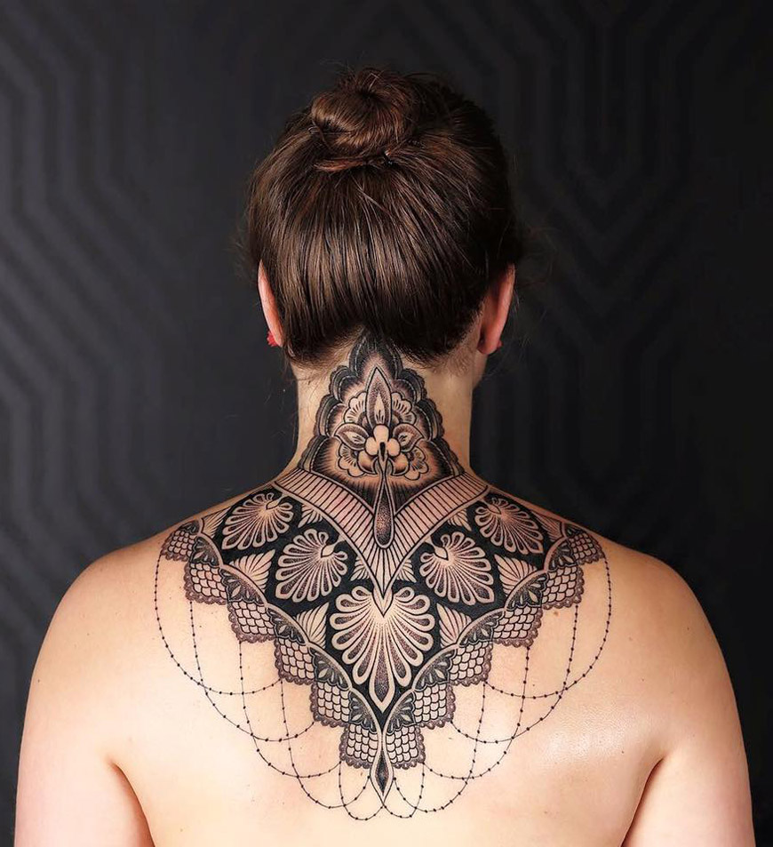 ornamental neck tattoo best tattoo design ideas. Black Bedroom Furniture Sets. Home Design Ideas